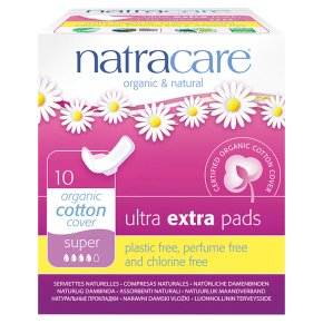 Natracare Sanitary Pads - 10 Super Pads