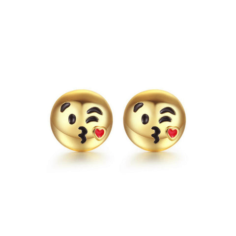 Kiss Emoji Earrings - MyLuxGem