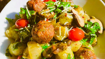 Make a low carb cauliflower gnocchi with Wunder Nuggets!
