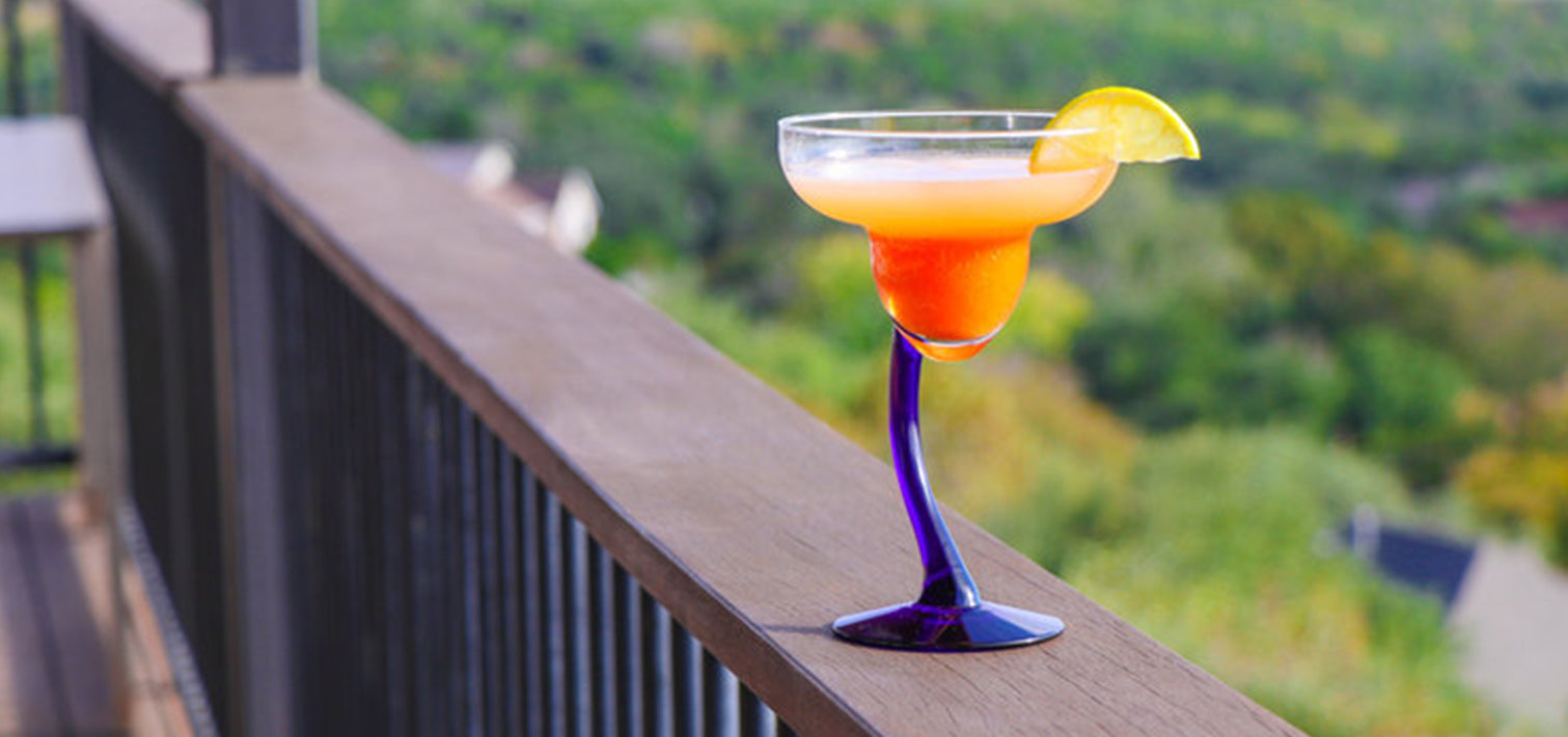 Tequila sunrise with persimmons, it's so good you will want it now!