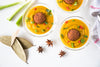 Butternut Squash Curried Coconut Soup with Turmeric Lentil Wundernuggets