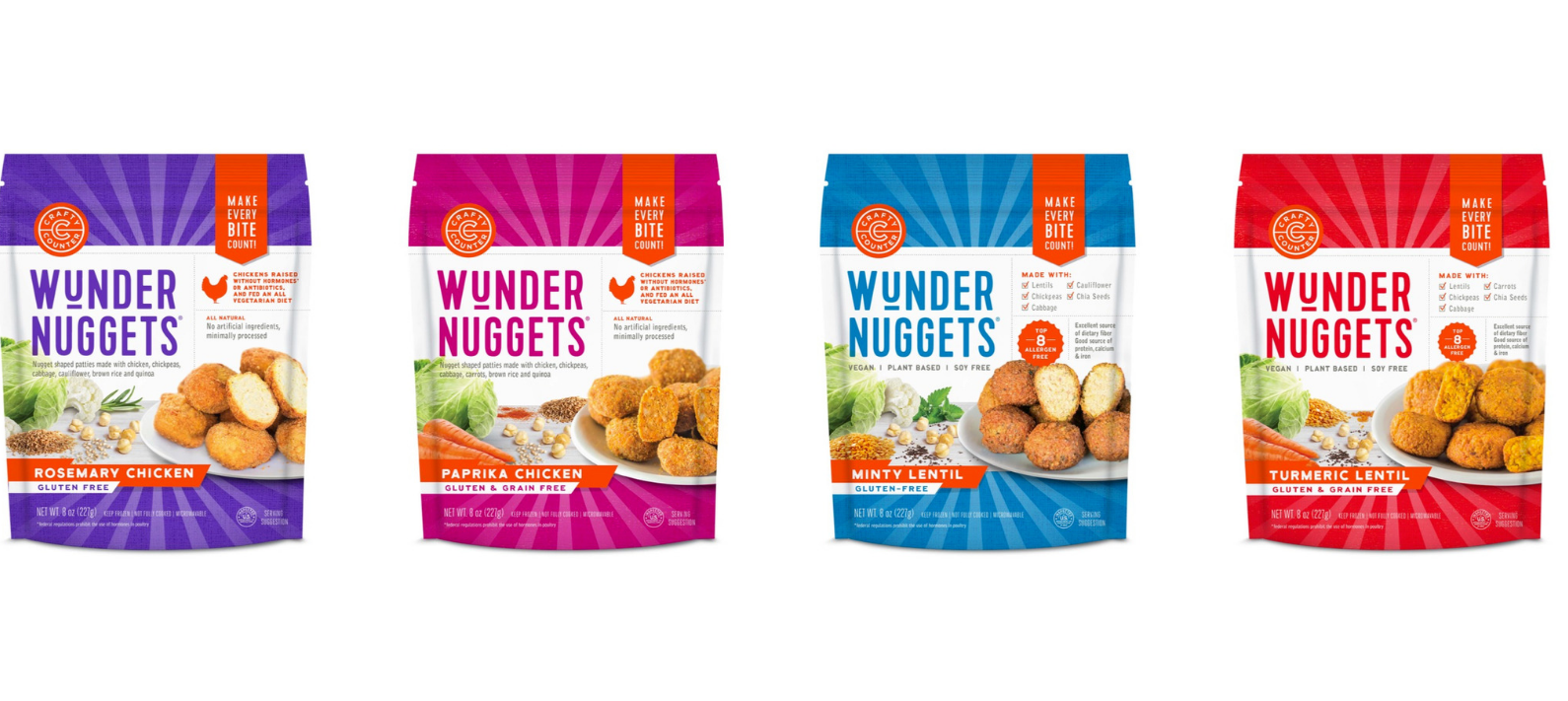 Design refresh! Plus the launch of new grain-free Wundernuggets