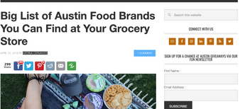 Austinot features Wunder Nuggets in the list of Austin Food Brands!
