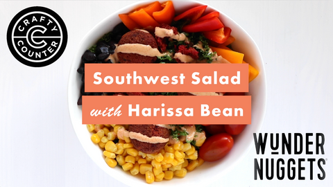 Southwest salad with chipotle mayo