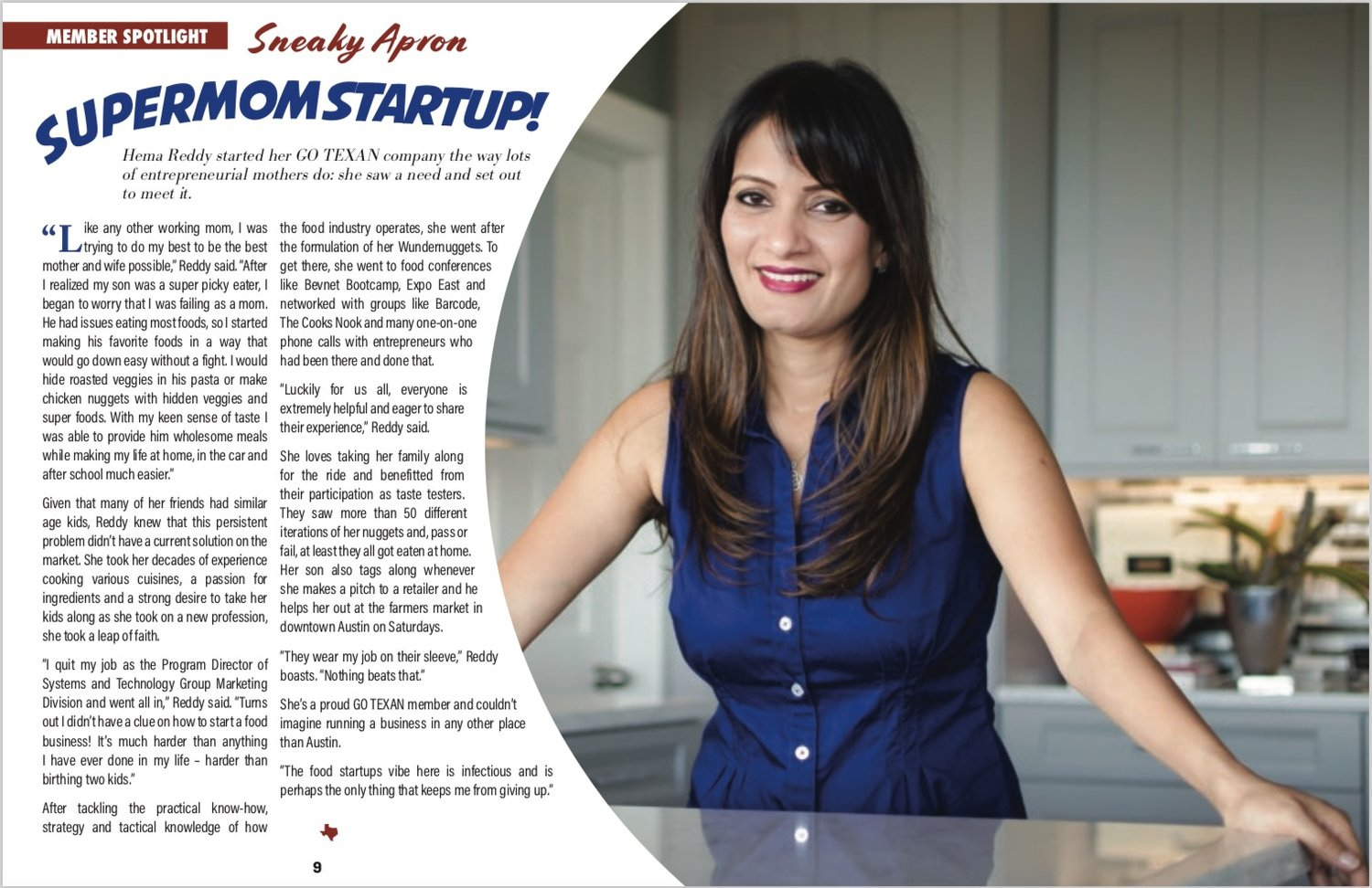 Hema Reddy and Crafty Counter Featured in GoTexan Statewide Publication