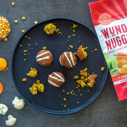 Turmeric Lentil and Harissa Bean Wundernuggets - Plant-based, Gluten and Grain Free (Pack of 6)