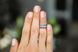 Mini Diamond Ring - Blue, Green, Pink or Black - LimeLiteJewellery.com