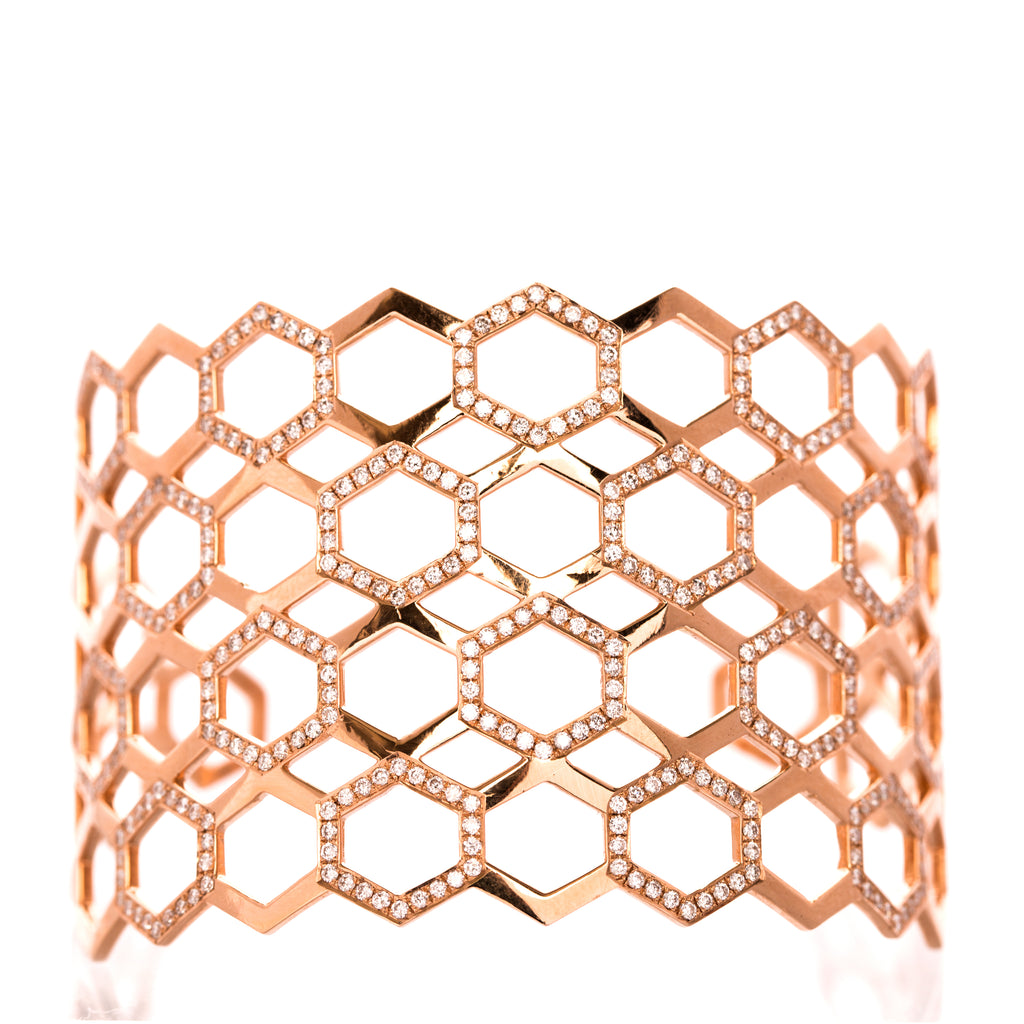 Honeycomb Cuff - LimeLiteJewellery.com