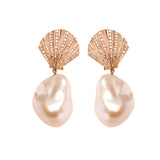Shell Pearl Earrings - LimeLiteJewellery.com