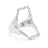 Hexagon Ring - LimeLiteJewellery.com