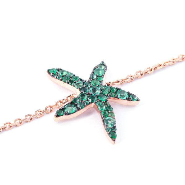 Pink, Green or Blue Seastar Bracelet