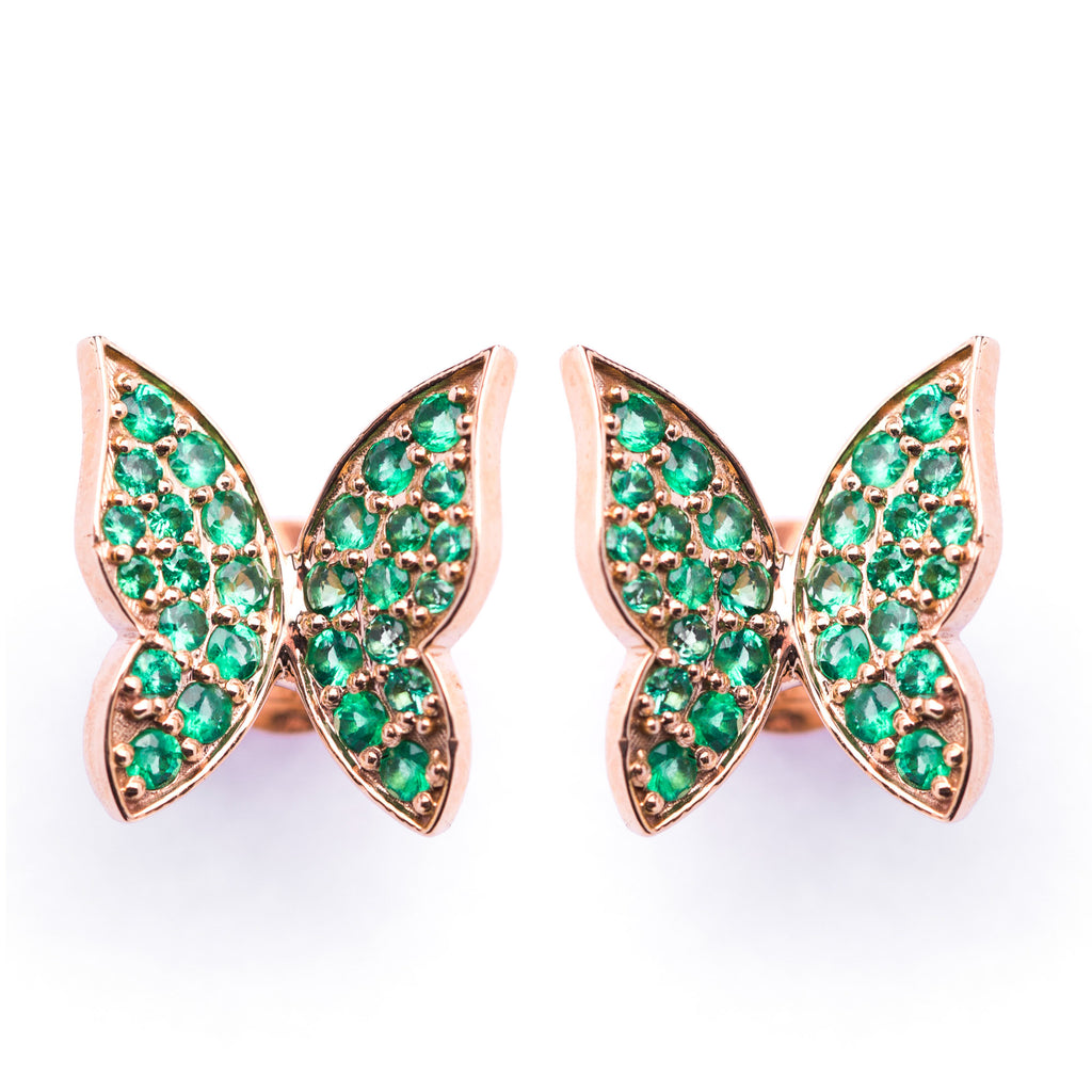 Green Butterfly Earrings - LimeLiteJewellery.com