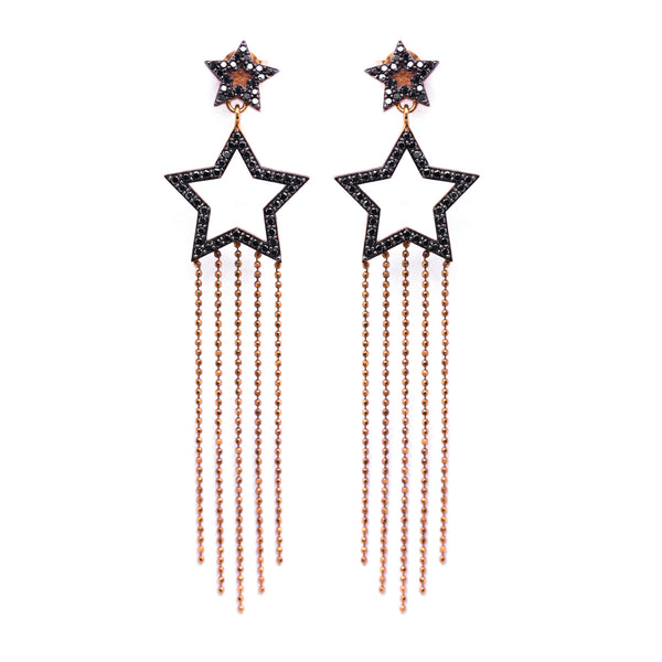 Shooting Star Earrings - Black