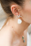 Seastar Pearl Earrings - LimeLiteJewellery.com