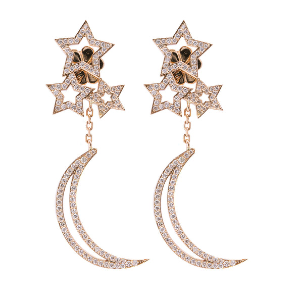 Stars & Moon Earrings - LimeLiteJewellery.com