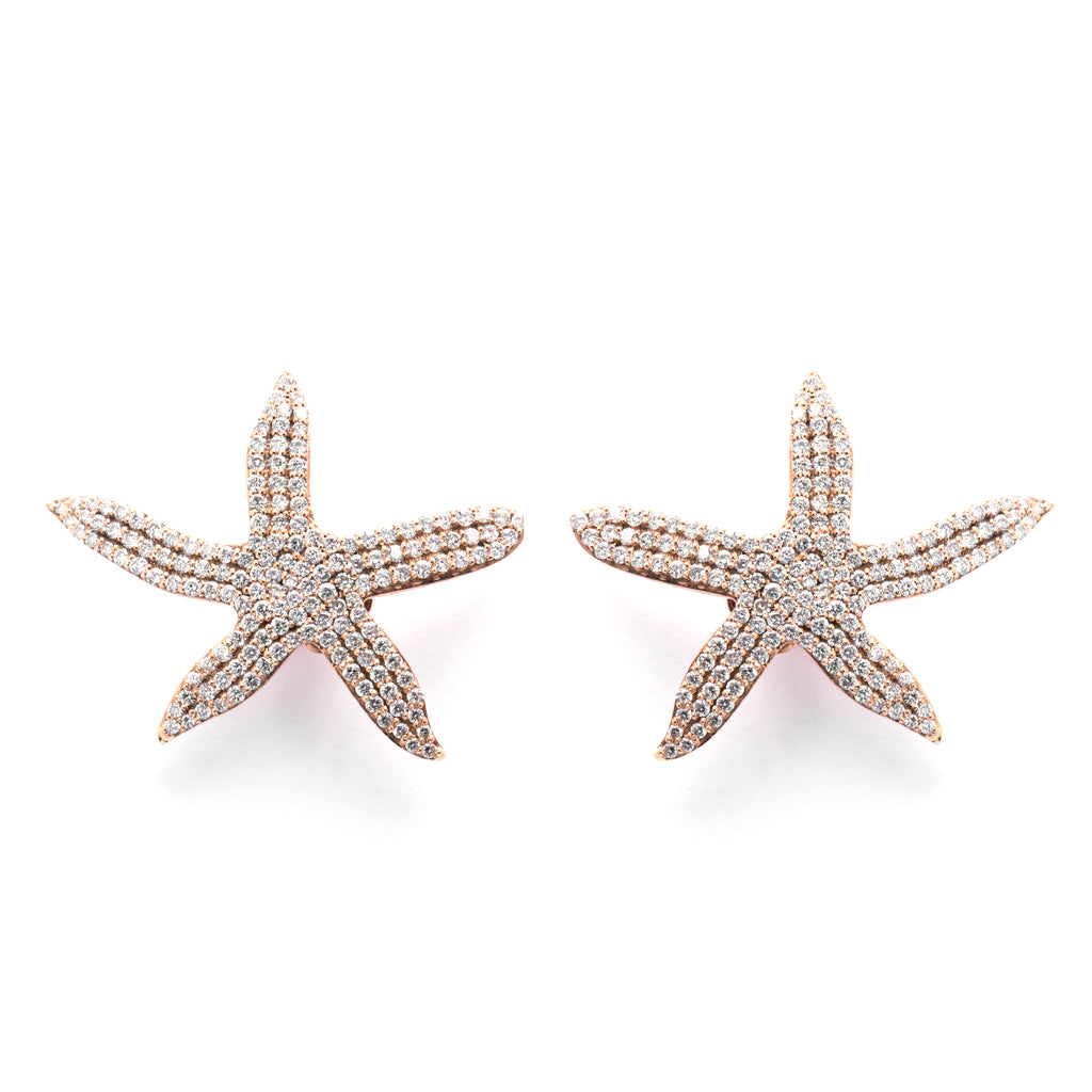 Big Seastar Earrings - LimeLiteJewellery.com