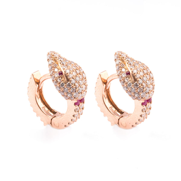 Small Snake Hoop Earrings - LimeLiteJewellery.com