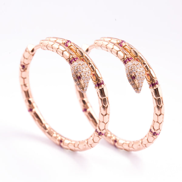 Snake Hoop Earrings - LimeLiteJewellery.com