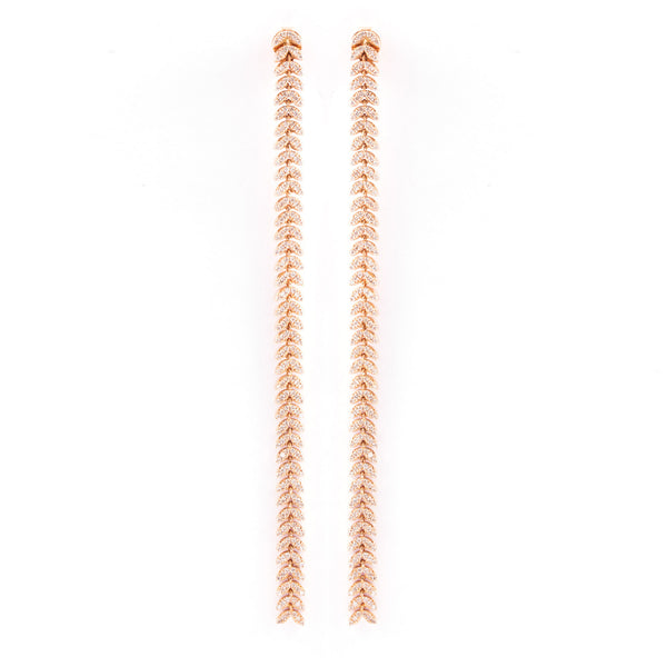 Long Wheat Earrings - LimeLiteJewellery.com