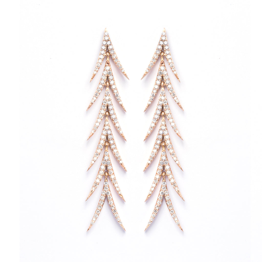 Areca Earrings 6cm - LimeLiteJewellery.com