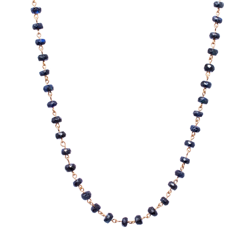 Sapphire Bead Chain - LimeLiteJewellery.com