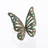 Butterfly Ring Green or Pink - LimeLiteJewellery.com