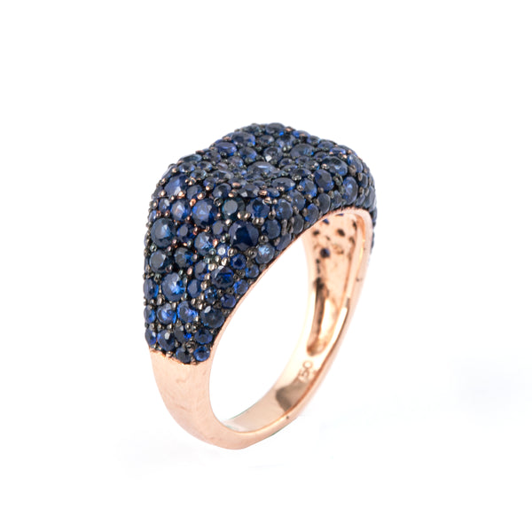 Blue Cube Ring - LimeLiteJewellery.com