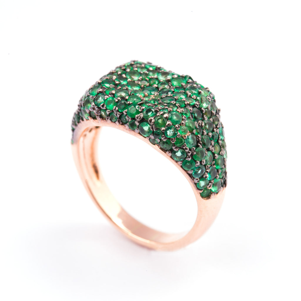 Green Cube Ring - LimeLiteJewellery.com