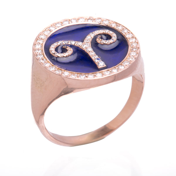 Customisable Zodiac Ring - LimeLiteJewellery.com