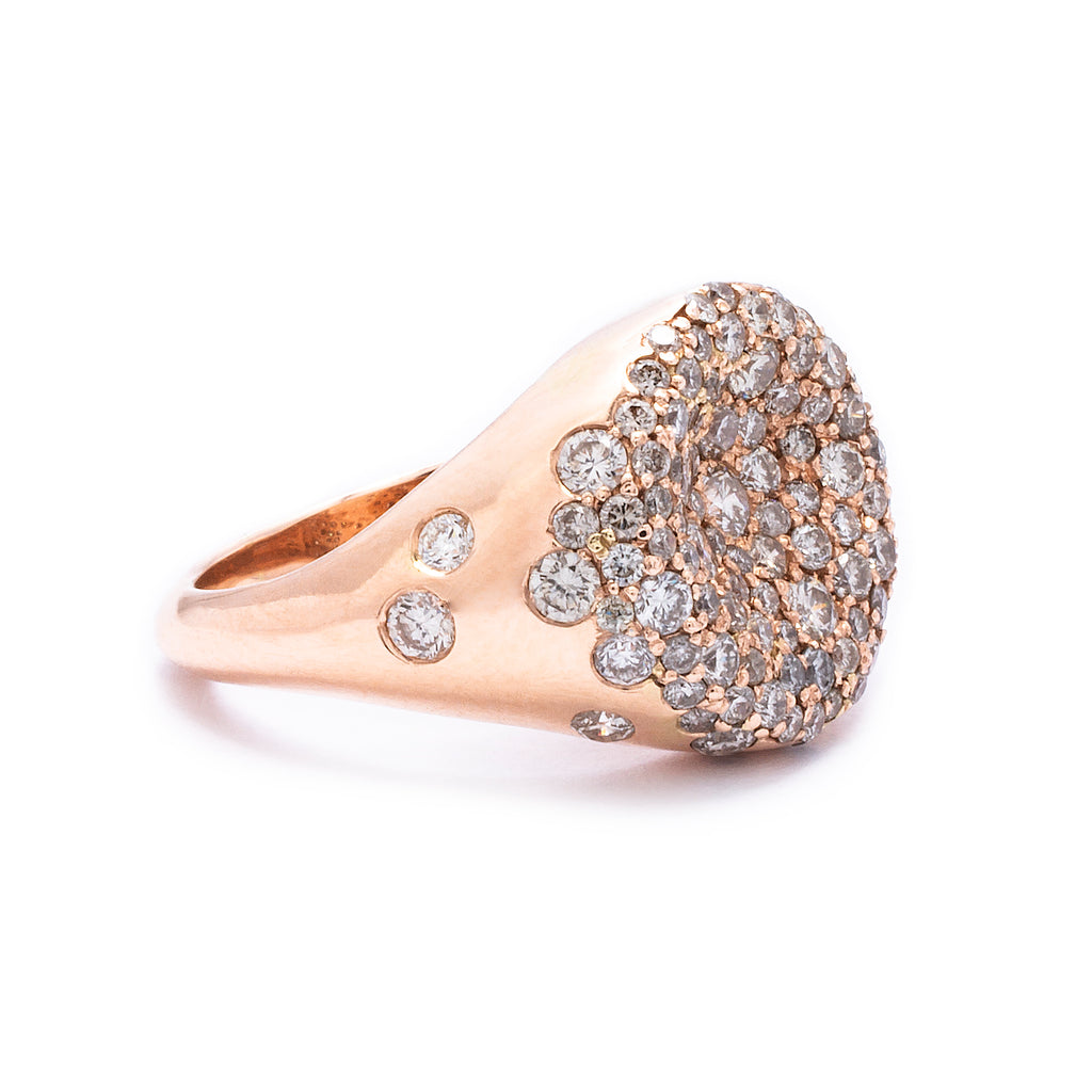 Cushion Pinky Ring - LimeLiteJewellery.com