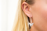 Butterfly Hoop Earrings - LimeLiteJewellery.com