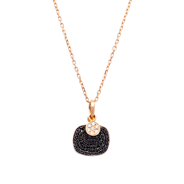 Black Pave Necklace - LimeLiteJewellery.com