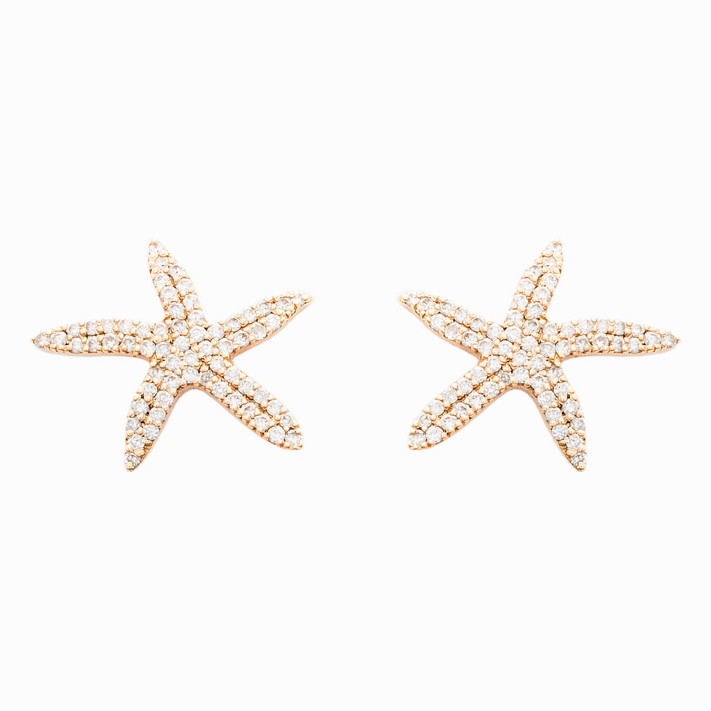 Small Seastar Earrings - LimeLiteJewellery.com