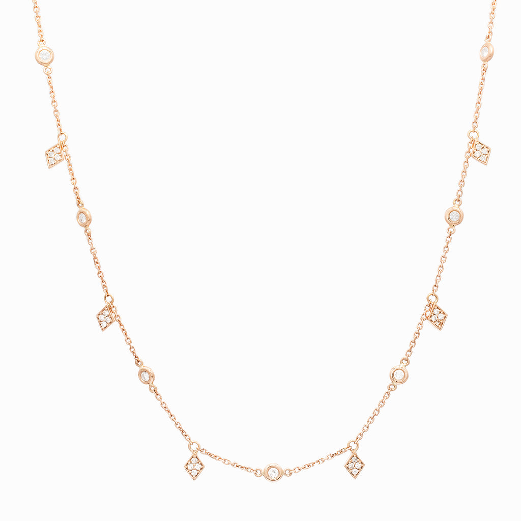 Diamond Necklace - LimeLiteJewellery.com
