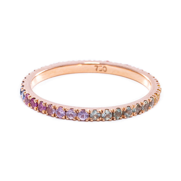 Rainbow Eternity Ring