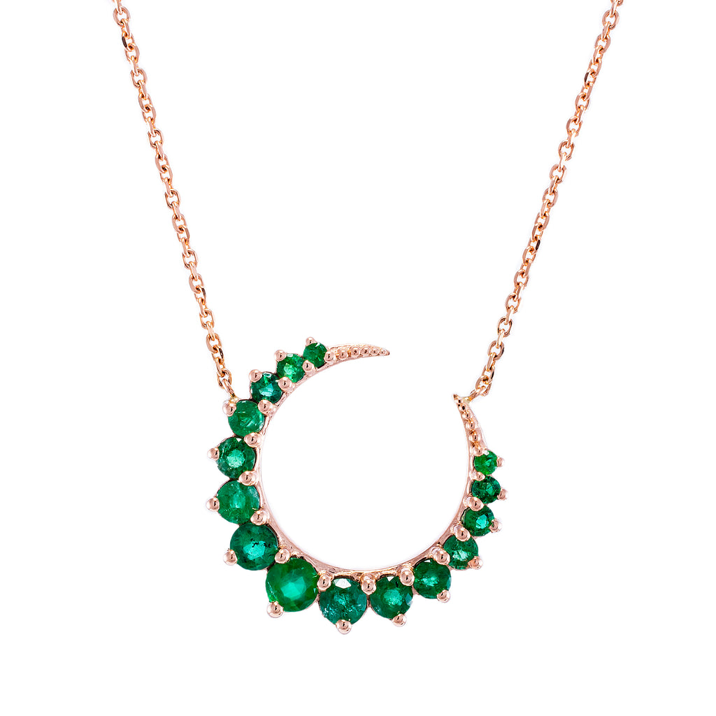 Emerald Moonsharp Necklace