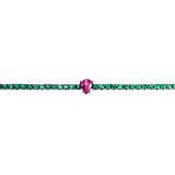 Emerald & Ruby Tennis Bracelet
