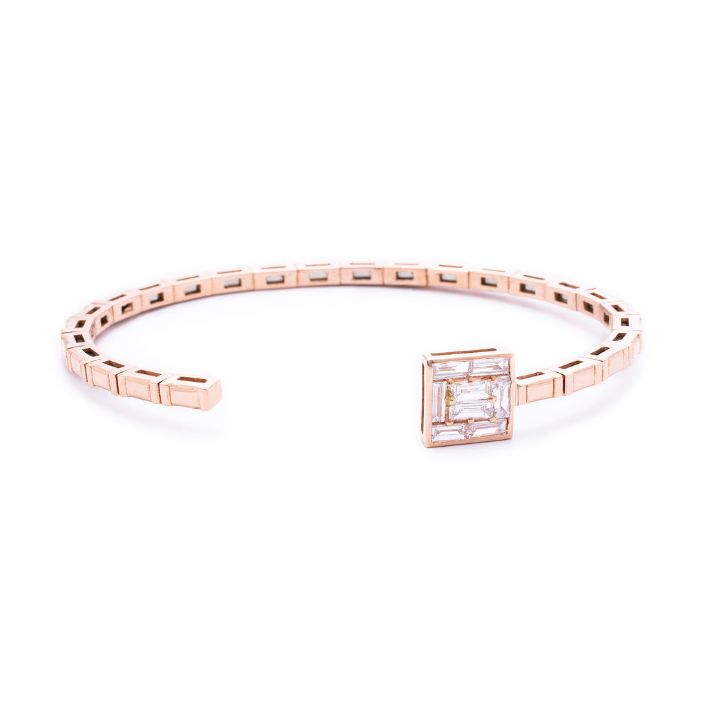 Square Diamond Bangle - LimeLiteJewellery.com