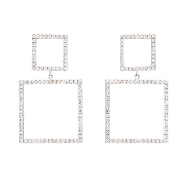 Double Square Earrings - LimeLiteJewellery.com