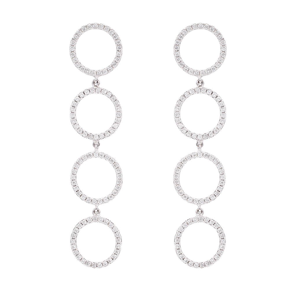 Circle Drop Earrings - LimeLiteJewellery.com