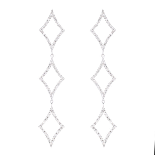 Big Diamond Drop Earrings - LimeLiteJewellery.com