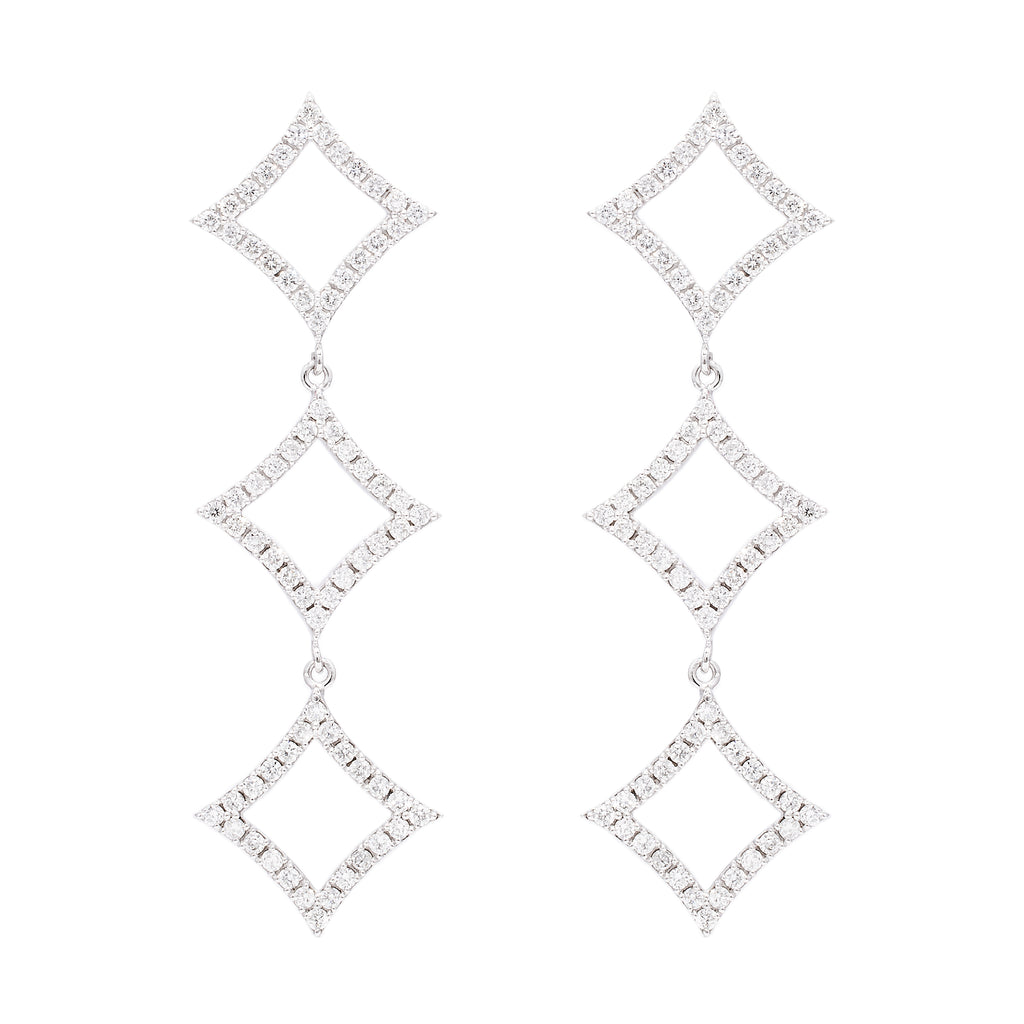 Small Diamond Drop Earrings - LimeLiteJewellery.com