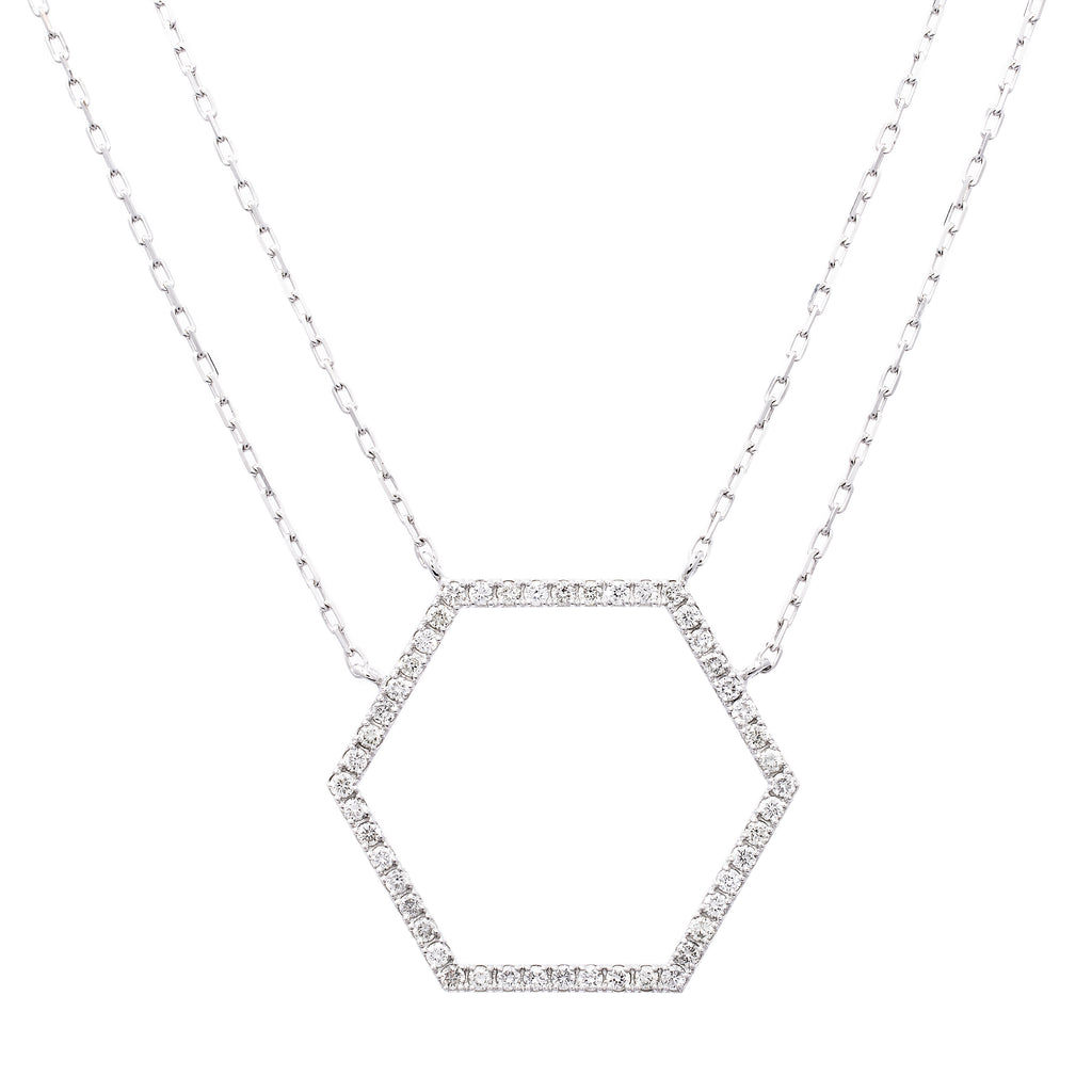 Hexagon Necklace - LimeLiteJewellery.com