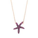 Pink, Green or Blue Seastar Necklace - LimeLiteJewellery.com