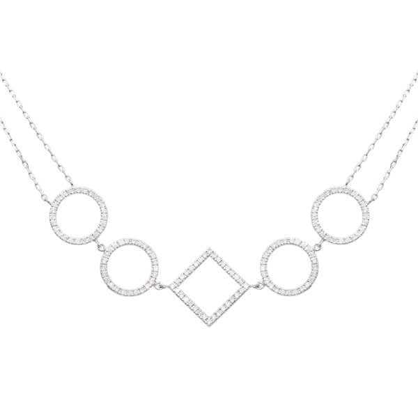 Circle & Square Choker - LimeLiteJewellery.com