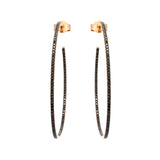 Thin Black Diamond Hoops - LimeLiteJewellery.com