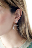 Double Circle Earrings - LimeLiteJewellery.com