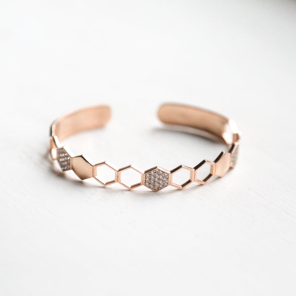 Honeycomb Bangle - LimeLiteJewellery.com