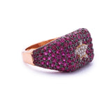 Pink Cube Ring with Star - LimeLiteJewellery.com