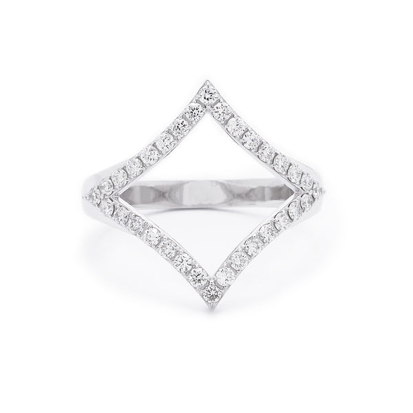 Small Diamond Shaped Ring - LimeLiteJewellery.com